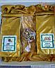 Подарок чайный с эко-свечкой из натурального пчелиного воска в золотистой коробке