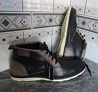Ботинки мужские натуральная кожа. Италия - CAFF@NERO. Демисезонные ботинки фирменные., фото 1