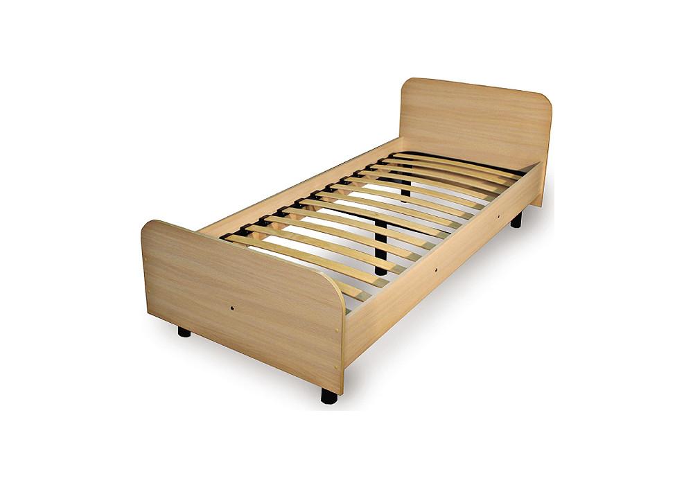 Кровать 4 Ольха темная  (Luxe Studio)