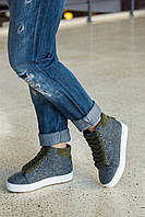 Ботинки-кеды демисезонные высокие, войлок+ (3 цвета)