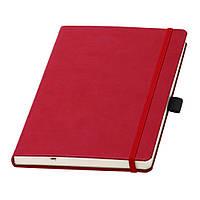 Записна книжка Туксон А5 в червоній обкладинці з кремовим блоком (Ivory Line, Італія) під нанесення логотипів, фото 1
