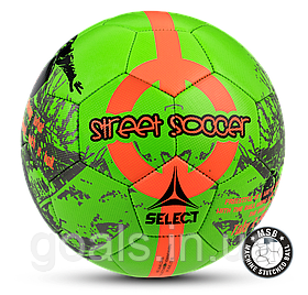 Мяч футбольный SELECT STREET SOCCER NEW (205) зел/оранж р. 4,5
