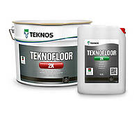 Глянцевая двухкомпонентная эпоксидная краска для бетонаTeknos Teknofloor 2K