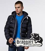 Braggart Aggressive 10168D | Зимняя куртка с капюшоном т.синий-белый
