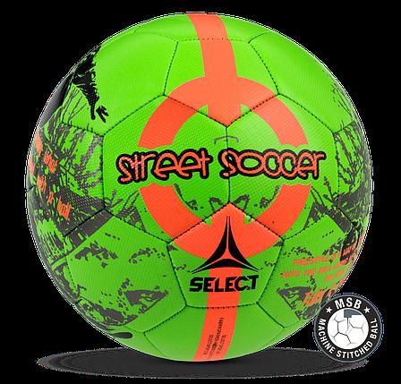 Мяч футбольный SELECT STREET SOCCER NEW (205) зел/оранж р. 4,5, фото 2