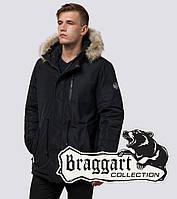 Braggart Black Diamond 31720F | Мужская парка с меховой опушкой черная