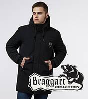 Braggart Black Diamond 9028A| Куртка зимняя мужская черная
