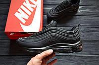 Мужские кроссовки Nike Air Max 97 All Black Топ реплика Хорошего Качества