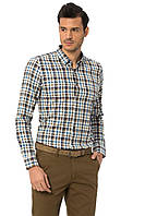 Мужская рубашка LC Waikiki / ЛС Вайкики в сине-коричневую клетку