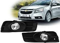 Противотуманные фары Chevrolet Cruze 2009- (Black)(DLAA), фото 1