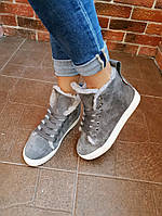 Кеды демисезонные модные, нат.замша + (2 цвета)