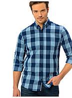 Мужская рубашка LC Waikiki / ЛС Вайкики в сине-голубую клетку, фото 1