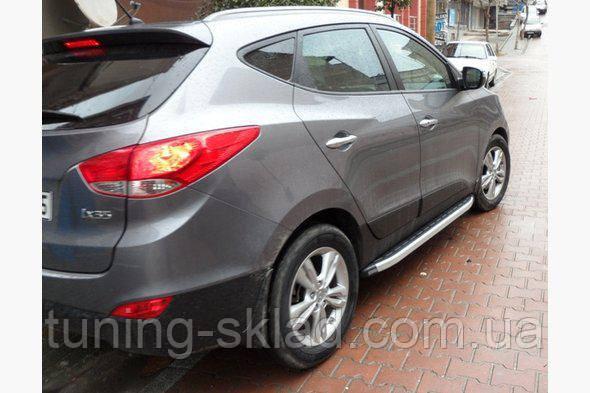 Силовые пороги Hyundai ix35 (вариант Fullmond)