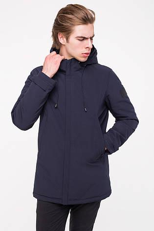 Удобная и практичная мужская демисезонная куртка MALIDINU MC-18301 - темно-синего цвета, фото 2