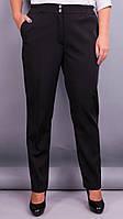 Элия зима. Женские батальне брюки в классическом стиле. Черный. 50, 52, 54, 56