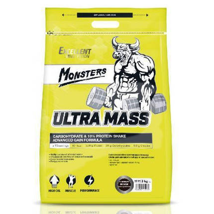 Гейнер Monsters Ultra Mass 10 % Protein 1 kg, фото 2