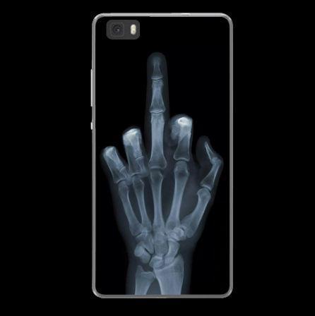 Силиконовый бампер чехол для Huawei P8 lite с рисунком Рентген