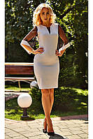 """Женское коктейльное платье """"Стелла"""" (нежно-серое), фото 1"""