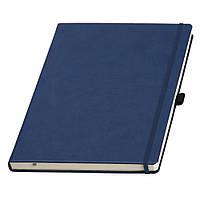 Записная книжка большая, формата  А4 от Ivory Line, Италия в синей обложке под нанесение логотипа на обложке, фото 1