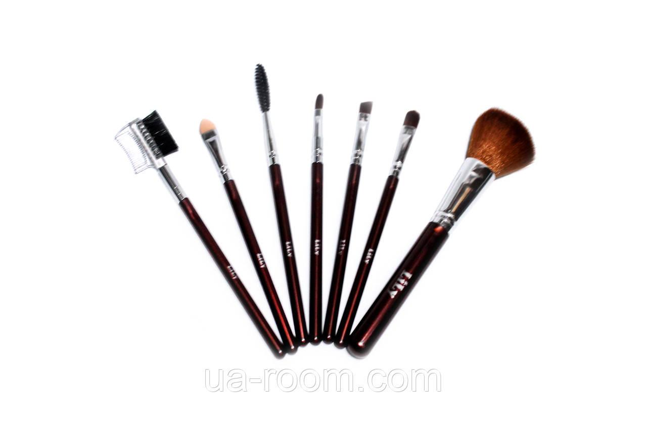 Набор кистей для макияжа (7 шт.) бронзовый LILY
