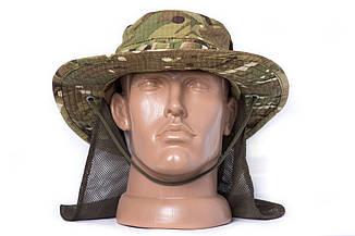 "Панама ""OUTDOOR"" с защитой шеи, Multicam, 100% х\б, фото 2"