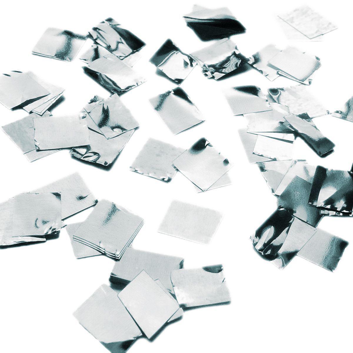 Конфетти квадратики серебро 50гр