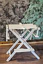 Стул для визажиста, складной, деревянный, стул режиссера, стул для фото сессии, белый, фото 3