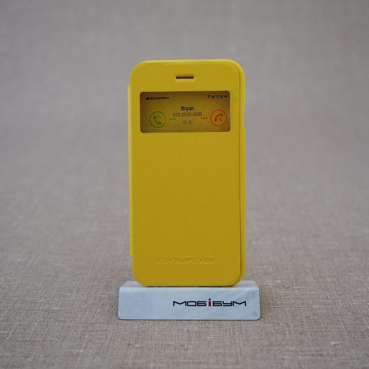 Чехол Goospery WOW! Bamper View iPhone 6 yellow