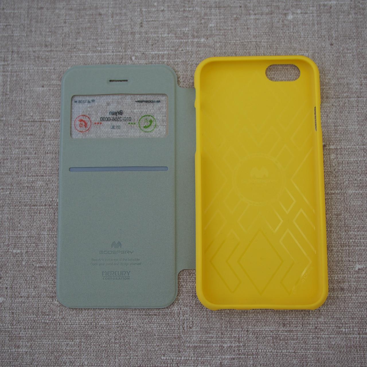 Goospery WOW! Bamper View iPhone 6 yellow