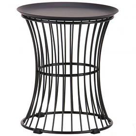 Стол журнальный Corella Лофт Черный круглый D38 (AMF-ТМ)