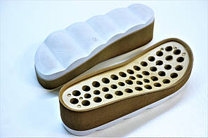 Подошва для обуви С-228 бежево-белая р. 36-41, фото 2