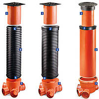 PipeLife Труба стержневая Ф400 с двойной стенкой, SN8, L=2м. для колодцев дренажных (канализация)