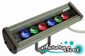 Линейные светильники для архитектурно-художественной подсветки. LED освещение. Светодиодное освещение.
