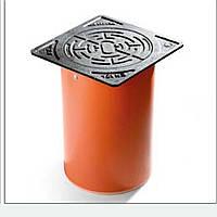 PipeLife Телескоп с квадратным чугунным люком 1,5т для колодцев дренажных (канализация)