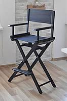 Стул для визажиста, складной, деревянный, стул режиссера, стул для фото сессии, черный