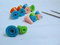 Заглушки для вязальных спиц съемные силиконовые, аксессуары для вязания