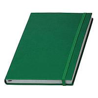 Записная книжка Туксон А5 в зеленой обложке с белым блоком (Ivory Line, Италия) под тиснение логотипов, фото 1