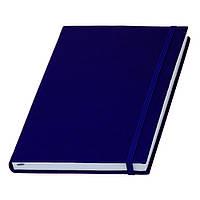 Записна книжка Туксон А5 у синій обкладинці з білим блоком (Ivory Line, Італія) під тиснення логотипів
