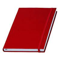 Записна книжка червона Туксон А5 з білим внутрішнім блоком (Ivory Line, Італія) під тиснення логотипів