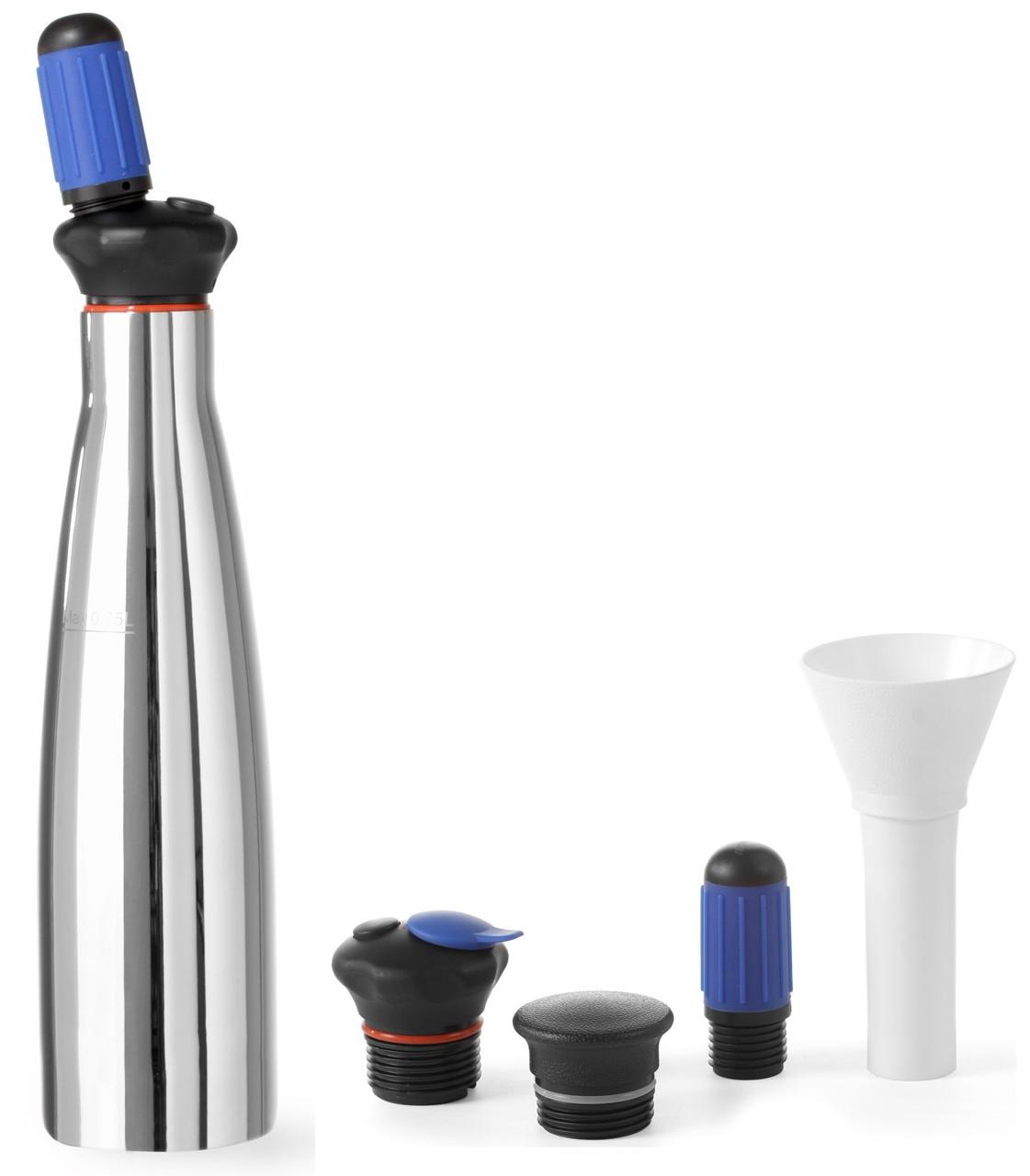 Сифон для газирования воды и напитков 0,75 л. нержавеющая сталь Soda splash, Hendi
