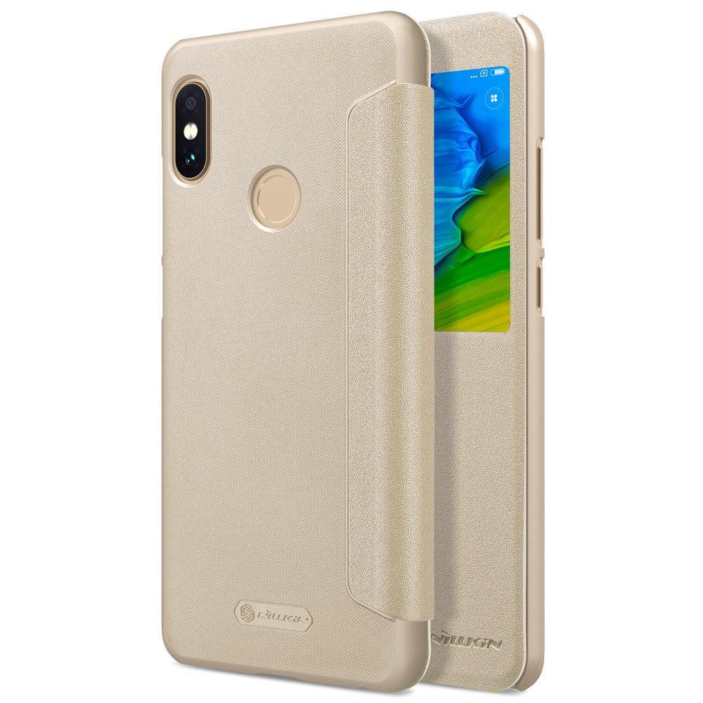 Nillkin XIAOMI RedMi Note 5/ Note 5 Pro Gold NEW LEATHER CASE чехол - книжка