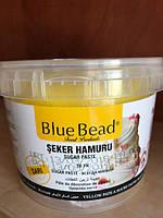 "Мастика /Паста кондитерская сахарная ""BlueBead""желтая, 1 кг"