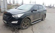 Силові пороги Hyundai Santa Fe III (варіант Fullmond)