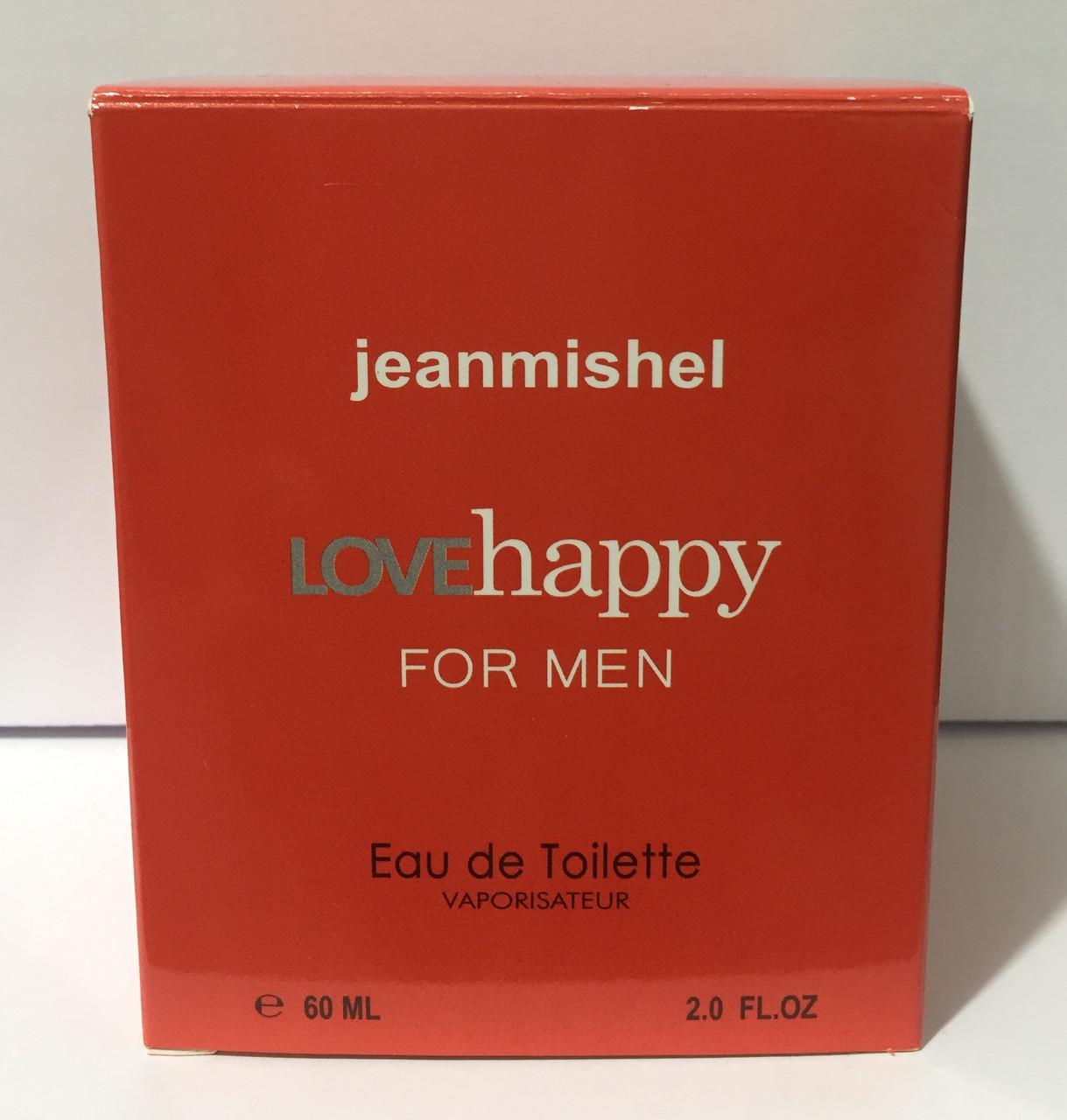 Тестер в подарочной упаковке jeanmishel loveHappy for man 60 мл