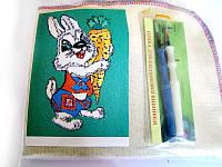 Набор для «ковровой вышивки»  2 иглы «Заяц»
