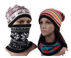 Зимний бафф, шарф, шапка