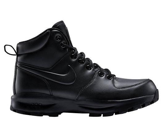 Ботинки Nike Manoa Leather черные оригинал, фото 2