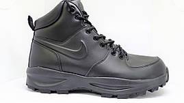 Ботинки Nike Manoa Leather черные оригинал, фото 3