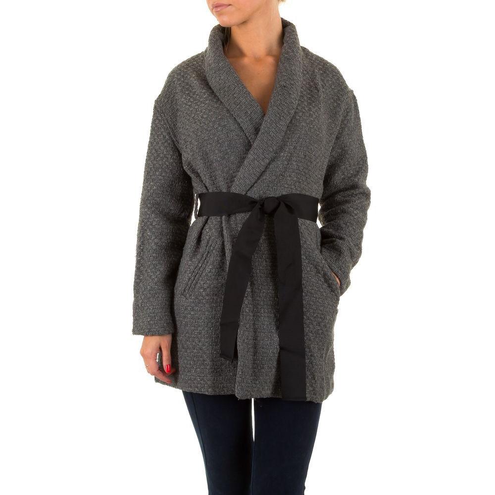 Короткое женское пальто Julie By Jcl (Франция) Серый L/40