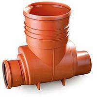 Кинета проходная Ф400 250-250 для ПП (гофрированных) труб, для колодцев дренажных (канализация)
